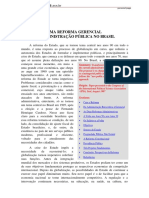 Reforma gerencial na administração pública