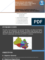 DESARROLLO URBANISTICO, PLANIFICACION VIAL Y UBICACIÓN DEL TERMINAL TERRESTRE DEL CANTÓN CUENCA