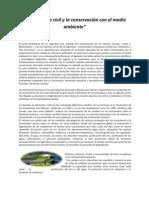 El ingeniero civil y la conservación con el medio ambiente