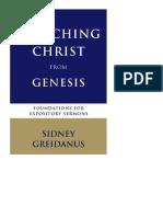 PREDICANDO A CRISTO DESDE GÉNESIS. Sidney Greidanus