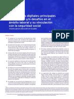 Seguridad Social y Plataformas Digitales
