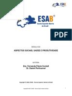 Aspectos sociais, saúde e produtividade