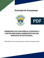 Ordenanza de Convivencia Ciudadana y Contravenciones Administrativas Del Municipio de Soyapango