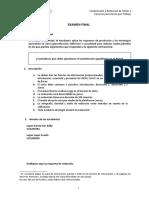 Formato Examen Final