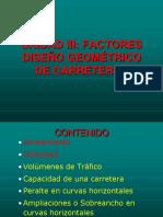 Unidad III Clase 1 Factores de Diseño Geométrico