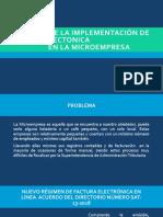 Impacto de la implementación de FACTURA ELECTONICA en
