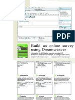 Build an online survey using Dreamweaver