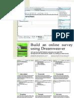 Build an online survey using Dreamweaver