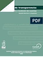 Políticas de transparencia:ciudadanía y rendición de cuentas.