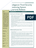 Madagascar Food Security Monitoring System- Quarterly Bulletin ( 4th Quarter 2010)