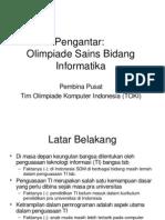 Penjelasan Umum Olimpiade Informatika Indonesia