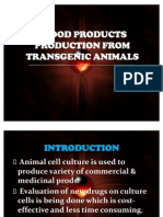 BLOOD PRODUCTS PRODUCTION FROM TRANSGENIC ANIMALS