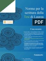 AEID_Norme Per La Scrittura Della Tesi Di Laurea