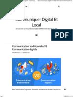 Communication Traditionnelle vs Communication Digitale - Communiquer Digital Et Local
