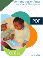Dévéloppement des enfants & pratiques parentales à Madagascar - 0 à 6 ans (UNICEF - 2011)