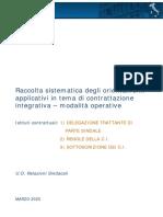 Raccolta sistematica orientamenti  in tema di contrattazione integrativa