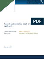 Regioni e autonomie locali_ Raccolta sistematica Orientamenti Ferie Dicembre 2015