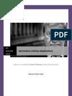 Vattimo - metafsicacontrademocrcia-110329160331-phpapp02