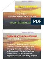 Accounting Seminar 1 [Topic]