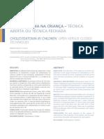 colesteatoma criança