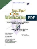 abhi PROJECT REPORT