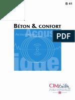 Béton & Confort-Acoustique