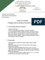 Guide de La Rédaction Du Mémoire