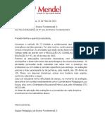 CRONOGRAMA DE AV. 9º ANO  II UNIDADE