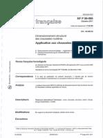 NF P 98 086 2011 Dimensionnement Structurel Des Chaussées Routières