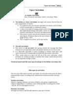 1-Types of Curriculum