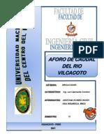 AFORO DE CAUDALES - AROTOMA ROMERO - VILA INGAROCA