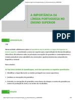 01-A IMPORTÂNCIA DA LÍGUA PORTUGUESA NO ENSINO SUPERIOR