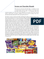 Customer Preference on Chocolate Brands