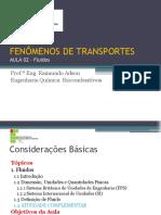Aula 02 - Fenômenos de Transportes
