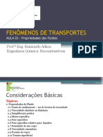 Aula 03 - Fenômenos de Transportes
