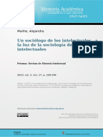 Mailhe, A. (2013). Un Sociólogo de Los Intelectuales. a La Luz de La Sociología de Los Intelectuales