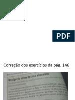 Correção das atividades página 146-147