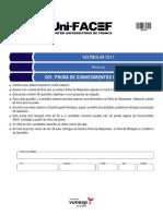 CUMF1601 - Uni-FACEF - Vestibular 2017