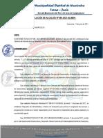 RESOLUCION DE ALCALDIA DISPONIBILIDAD DE TERRENO CONGAS ANTACUCHO