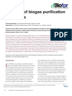 Nicolas_A review of biogas purifi cation