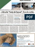 """""""Altro che 'Isola dei famosi'. Ecco la verità"""" / Studenti dal Mediterraneo a Comunicazione Interculturale - Il Resto del Carlino del 31 marzo 2011"""