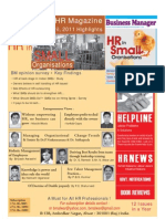 HR in small organisations-Business manager=HR magazine highlights