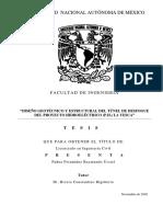 Diseño Geotecnico Del Tunel de Desfogue Del Proyecto Hidroléctrico (p.h.) La Yesca (1)