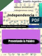 Palabras Diversas Independencia