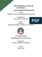 Actividad 4 Perfil de Ingreso y Egreso Ciclo Basico Licda Lucia Angel Ruiz