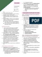 12. Conceito de avaliação em saúde, avaliação de serviços e fluxos da UBS