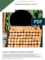 Tratamento de madeira em autoclave - O que é
