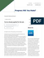 Corporate Banking Analyst - CITI
