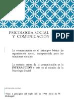 PSICOLOGIA SOCIAL y COMUNICACION