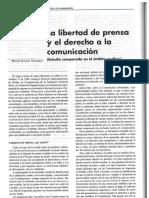 La Libertad de Prensa y El Derecho a La Comunicaci
